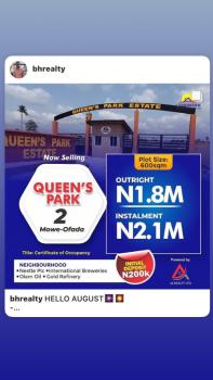 Own a Plot of Land with As Low As 200k Deposit and Spread Balance, International Breweries, Mowe Ofada, Ogun, Mixed-use Land for Sale
