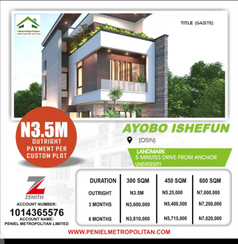 a Plot of Land, Ishefun,osin Minutes Drive From Anchor University., Ayobo, Lagos, Land for Sale