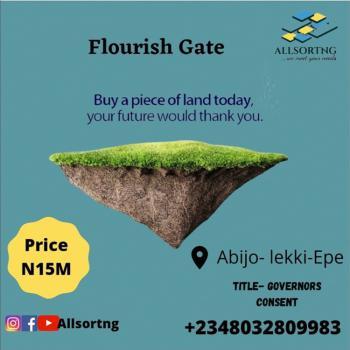 Dry Affordable Land in Good Area, Flourish Gate, Abijo, Lekki, Lagos, Residential Land for Sale