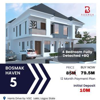 Luxury 4 Bedroom Fully Detached Duplex with Modern Finishes(off Plan), Bosmak Haven Duplexes, Beside Vgc, Vgc, Lekki, Lagos, Detached Duplex for Sale