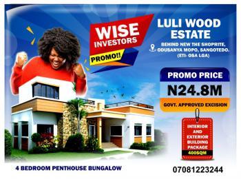 4 Bedroom Penthouse Bungalows Interior  and Exterior  Building  Package, Luli Wood Estate, Along The 8 Lanes Lekki Coastal Express Road, Sangotedo, Ajah, Lagos, Detached Bungalow for Sale