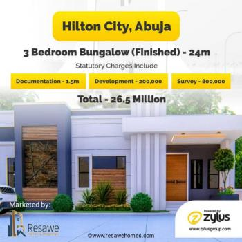 Beautifully Built 3 Bedroom Bungalow, Hilton City, Kurudu, Abuja, Detached Bungalow for Sale