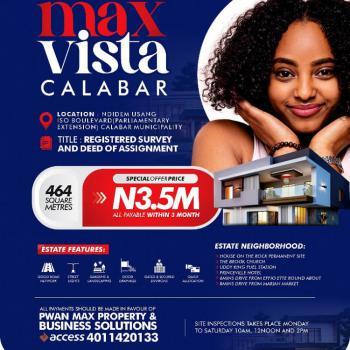Plot of Land in Max Vista, Ndidem Usang Iso Boulevard (parliamentary Extension), Calabar Municipa, Calabar, Cross River, Mixed-use Land for Sale
