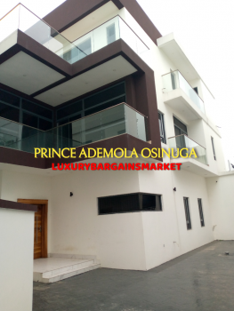New & Semi Detached 5 Bedroom House + Cinema +bq, Lekki Phase 1, Lekki, Lagos, Semi-detached Duplex for Sale