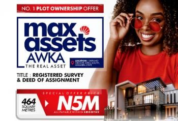 Max Assets  (limited Offer ), Max Assets Awka,okpuno Okochi, Awka South Lga, Awka, Anambra, Mixed-use Land for Sale