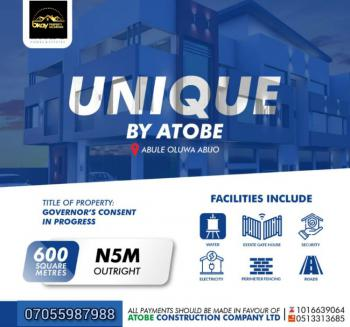 Available Promo Land That Attract 10% Discount on Outright Payment!, Unique Estate, Abijo, Lekki, Lagos, Residential Land for Sale