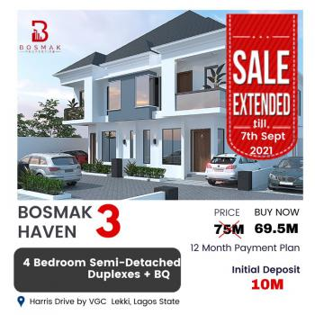 4 Bedrooms Semi-detached with Bq, Bosmak Haven, Vgc, Lekki, Lagos, Semi-detached Duplex for Sale