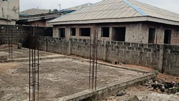 Half Plot of Land with Foundation for Duplex, Ikola Command, Ipaja, Lagos, Mixed-use Land for Sale