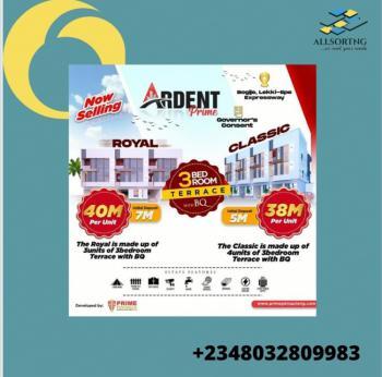 3 Bedroom Terrace Duplex with a Bq, Ardent Prime Estate, Bogije, Ibeju Lekki, Lagos, Terraced Duplex for Sale