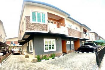 Fully Serviced 4 Bedroom Semi-detached Duplex with a Room Bq, Chevron Drive, Lekki, Lagos, Semi-detached Duplex for Rent