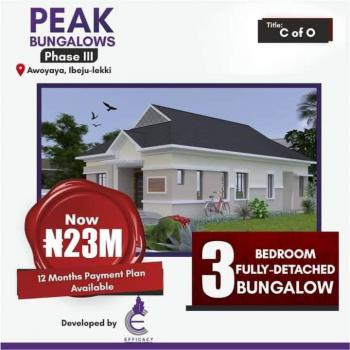 3 Bedrooms Fully Detached Bungalow with a Room Bq, Awoyaya, Ibeju Lekki, Lagos, Detached Bungalow for Sale