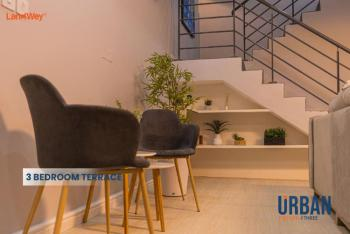 Luxury 3 Bedroom Terrace, Abraham Adesanaya, Ogombo, Ajah, Lagos, Terraced Duplex for Sale