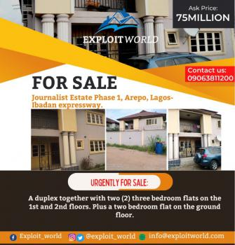 a Duplex Together with Two (2) Three Bedroom Flats, Journalist Estate Arepo Ogun State, Berger, Arepo, Ogun, Detached Duplex for Sale