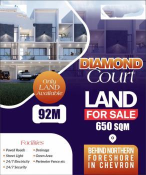 Prime Luxury Land, Diamond Court Estate, Behind Northern Foreshore Estate, Chevron Drive, Lekki, Lagos, Residential Land for Sale