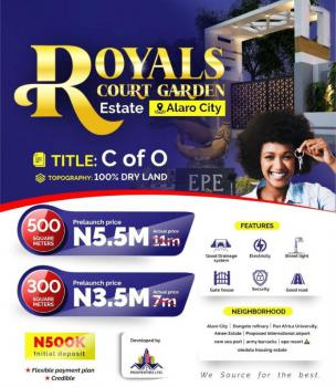 Land with C of O in a Fastest Growing Area, Royals Court Garden Estate, Beside Alaro City, Epe, Lagos, Residential Land for Sale