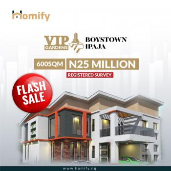 600 Sqm Land, Inside Ipaja Boystown Estate, 5 Minutes After Gate Bus-stop, Boys Town, Ipaja, Lagos, Mixed-use Land for Sale