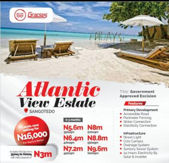 Gated and Serene Beachfront Property with C of O, Sangotedo, Ajah, Lagos, Mixed-use Land for Sale