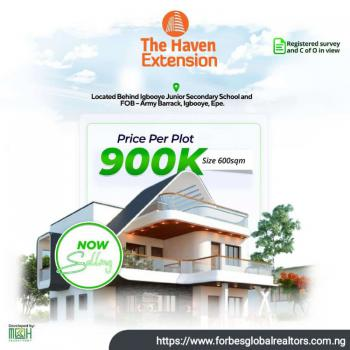 Land, The Haven Estate, Igbooye Eredo, Epe, Lagos, Residential Land for Sale