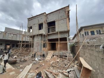 Uncompleted 4 Bedroom Detached Duplex with a Room Boys Quarter, Gbagada, Lagos, Detached Duplex for Sale