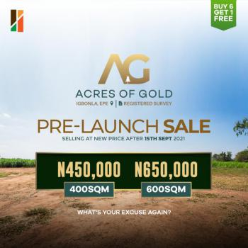 Land, Acres of Gold, Igbonla, Epe, Lagos, Residential Land for Sale