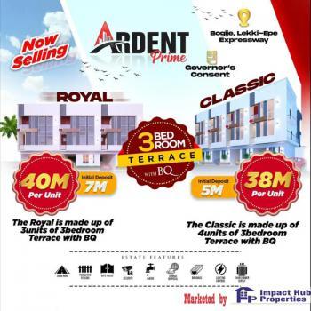 Royal 3 Bedroom Terrace Duplex with Bq, Bogije, Ibeju Lekki, Lagos, Terraced Duplex for Sale