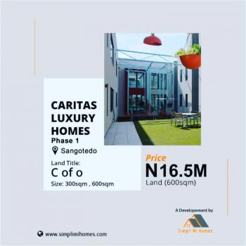 Land with Certificate of Occupancy, Caritas Luxury Homes Phase 1, Sangotedo, Ajah, Lagos, Mixed-use Land for Sale