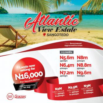 Best Water Front Land, Shares Proximity with The Biggest Shop Rite in West Africa, Sangotedo, Ajah, Lagos, Residential Land for Sale