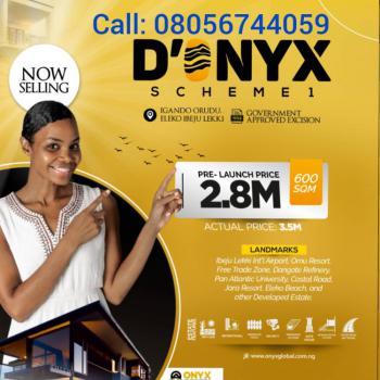 Land, D-onyx Scheme 1, Along Coastal Road, Eleko, Igando Orudu, Ibeju Lekki, Lagos, Mixed-use Land for Sale