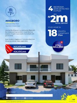 Wonderful 4 Bedroom Semi Detached Duplex, Rose Garden Estate, Magboro, Ogun, Semi-detached Duplex for Sale