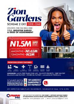 Plot Land, Zion Garden Scheme 2, Ibeju Lekki, Lagos, Mixed-use Land for Sale