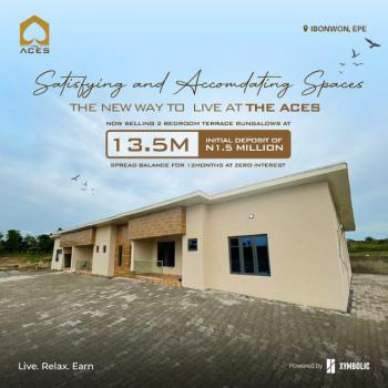 Lovely Built 2 Bedroom Terrace Bungalow, The Aces, Epe, Lagos, Terraced Bungalow for Sale