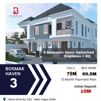 Lovely 4 Bedroom Semi Detached Duplex with Bq, Harris Drive, Vgc, Lekki, Lagos, Detached Duplex for Sale