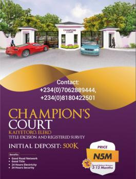 Land, Champions Court, Kayetoro, Eleko, Ibeju Lekki, Lagos, Mixed-use Land for Sale
