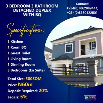 Luxury 3 Bedroom Detached Duplex with Bq, Amen Estate Phase 2, Eleko, Ibeju Lekki, Lagos, Detached Duplex for Sale