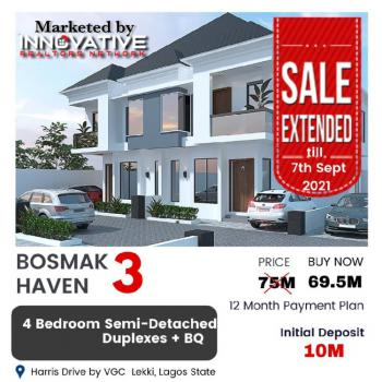 4 Bedroom Semi Detached Duplex with a Payment Plan, Beside Vgc, By, Ikota, Lekki, Lagos, Semi-detached Duplex for Sale
