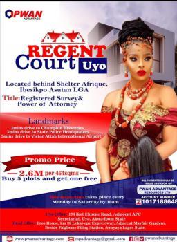 Plot of Land at Regent Court, Beside Shelter Afrique, Ibesikpo Asutan Lga, Akpabuyo, Cross River, Mixed-use Land for Sale