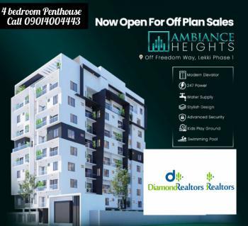 4 Bedroom Penthouse + Bq, Off Freedom Way, Lekki Phase 1, Lekki, Lagos, Block of Flats for Sale