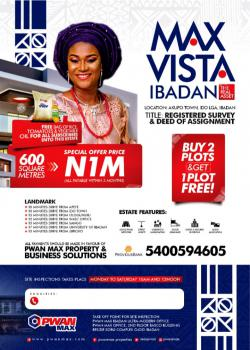 Buy a Plot of Land, Akufo Town, Ido Lga, Ibadan, Oyo, Mixed-use Land for Sale