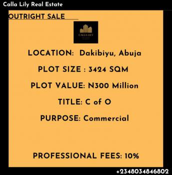 Commercial Land Available, Dakibiyu, Abuja, Commercial Land for Sale