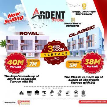 Luxury 3 Bedroom Terrace with B.q, Ardent Prime, Bogije, Ibeju Lekki, Lagos, Terraced Duplex for Sale