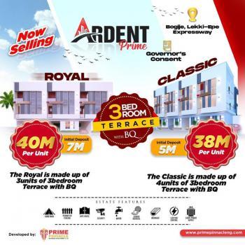 Classic 3 Bedroom Terrace with Bq, Bogije, Ibeju Lekki, Lagos, Terraced Duplex for Sale