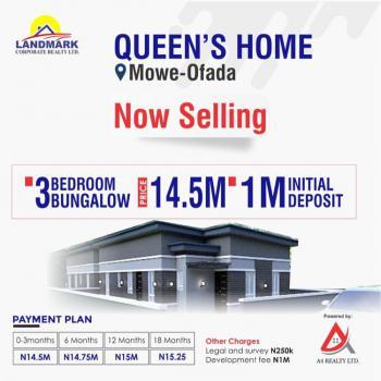 Queens Park Homes, Queens Park Estate., Mowe Ofada, Ogun, Semi-detached Bungalow for Sale