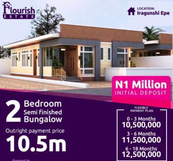 Luxury 2 Bedrooms Semi Detached, Semi Finished Bungalow, Cielo Flourish Estate, Off Michael Otedola Housing Estate, Iragunshi, Epe, Lagos, Semi-detached Duplex for Sale