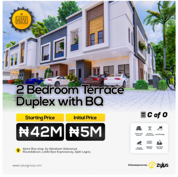 Tastefully Finished 2 Bedroom Terrace Duplex with Bq, Close to Ajiwe Police Station, Abraham Adesanya, Lekki-epe Expressway,, Ajiwe, Ajah, Lagos, Terraced Duplex for Sale