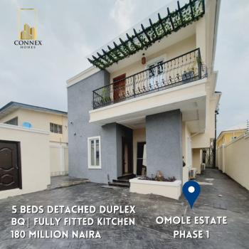 Luxurious 5 Bedrooms Detached Duplex with Bq, Omole Phase 1, Ikeja, Lagos, Detached Duplex for Sale