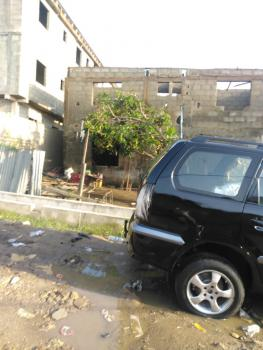 an Uncompleted a Story Building in Cool Area, Off Emily Akinola Str, Akoka, Yaba, Lagos, Block of Flats for Sale