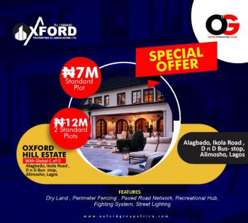 Standard Plot of Land, Oxford Hill Estate Ikola Alagbado, Alimosho, Lagos, Residential Land for Sale
