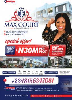 Plots of Land Available in an Estate, Max Court Estate, Beside Lekki Gardens Estate, By Blenco, Sangotedo, Ajah, Lagos, Residential Land for Sale