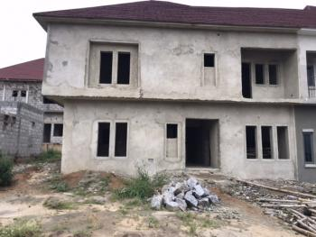 Advanced Roofed Carcass of 4 Bedrooms Duplex with Bq, Near Godab Estate, Life Camp, Abuja, Semi-detached Duplex for Sale