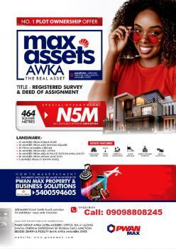 Ready to Build Estate Land- Max Assets, Okpuno Near Ekwueme Square, Awka, Anambra, Mixed-use Land for Sale
